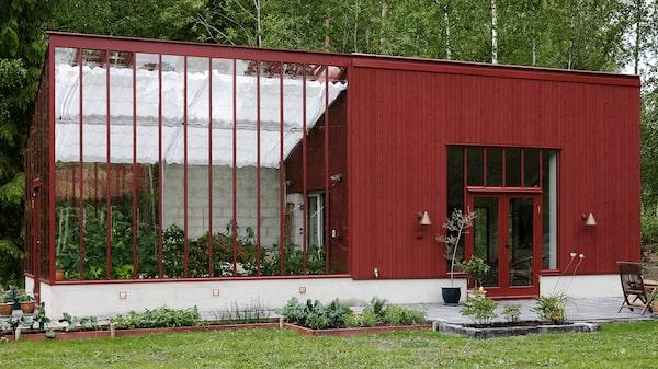 Växthus med ateljé från Sweden Green House.