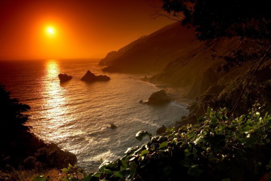 Stanna och titta på solnedgången vid vägkanten! Mer romantiskt blir det inte.