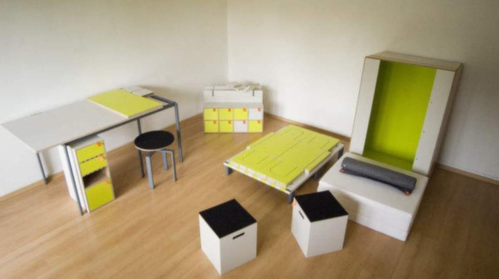 I lådan finns alltså ett komplett sovrum.
