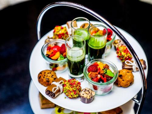 Hotel Diplomat har tre olika afternoon tea, däribland den nyttigare varianten Tea-Tox.