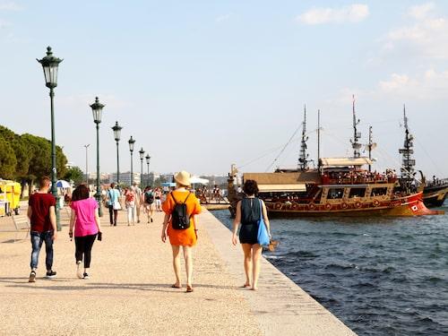 Strandpromenaden i Thessaloniki.
