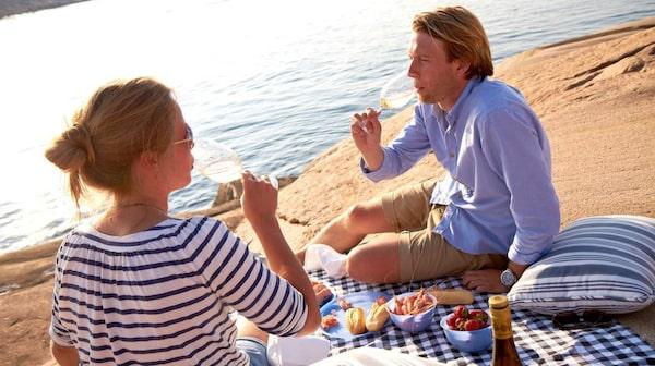 Mjuka klippor perfekta för en picknick