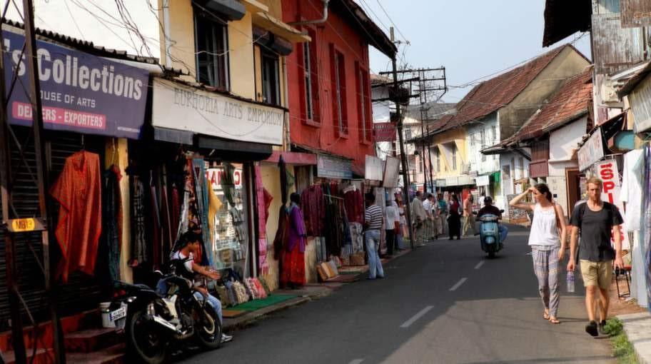 Fort Cochins gränder, butiker och krogar är populära bland turisterna.