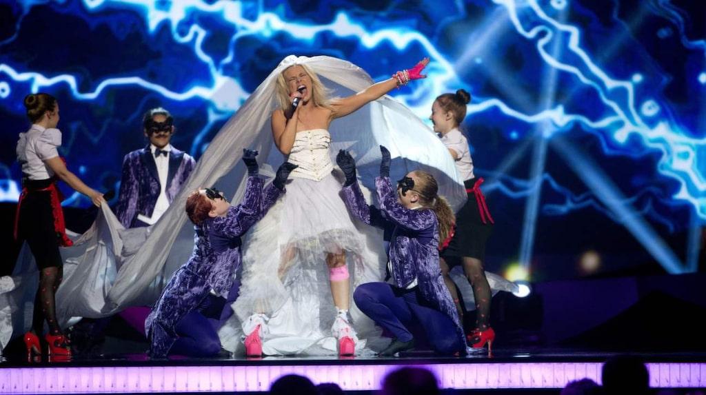 "Krista Siegfrids representerade Finland i Eurovision Song Contest 2013 med låten ""Marry Me""."