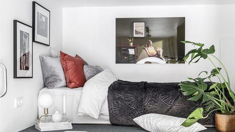 Det mysiga sovloftet på fyra kvadratmeter.