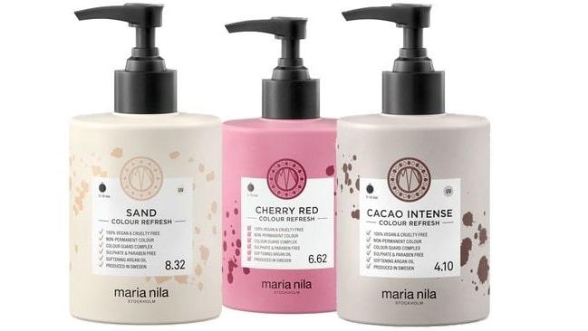 Colour refresh från Maria Nila håller i ungefär fyra tvättar.