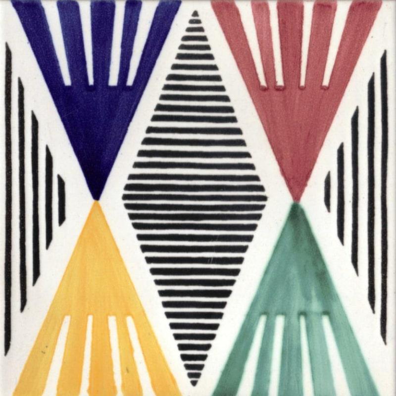 Klassiskt, modernt och färgglatt ur serien Contemporaneo, 3 000 kronor per kvadratmeter, La Riggiola.