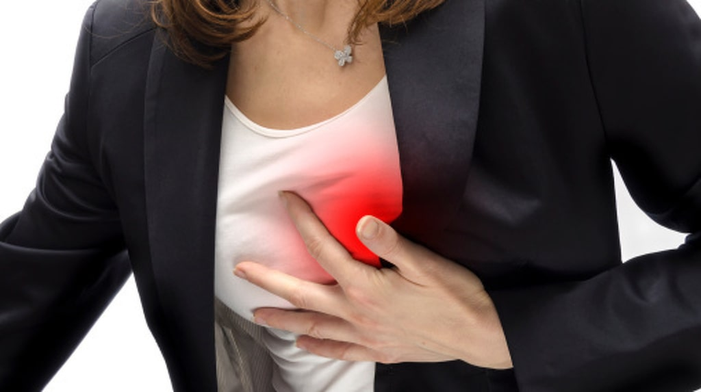 Ungefär 40% av alla hjärtinfarkter drabbar kvinnor. Risken ökar - för båda könen - med stigande ålder.