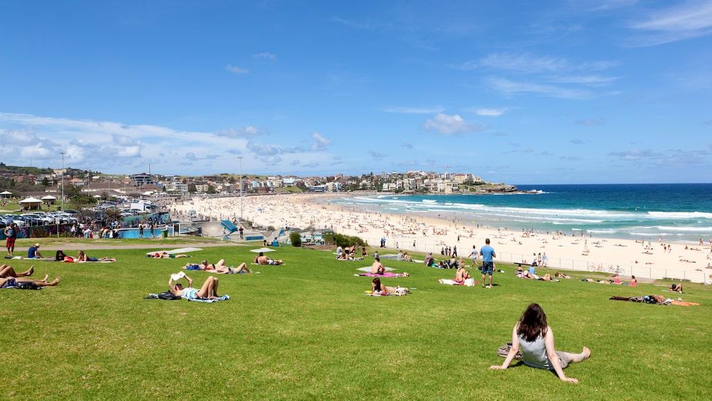 Bondi Beach i Sydney, Australien.