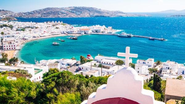 Mykonos är en av Greklands mest glamorösa öar.