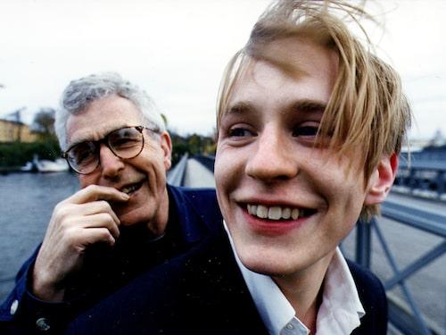 Johan Widerberg tillsammans med pappa Bo Widerberg
