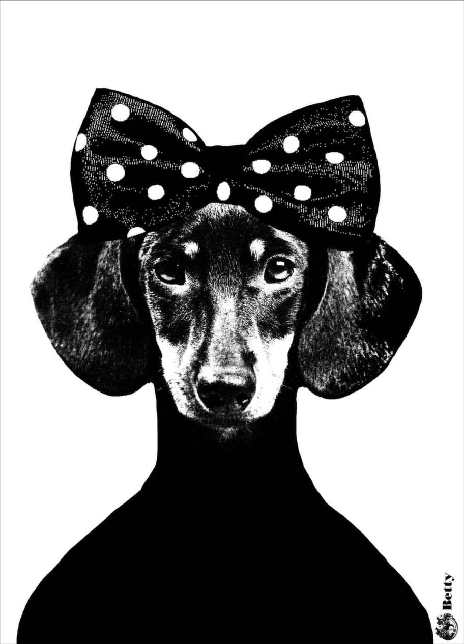 Voff. Affischen Betty i serien Tillsammans från Studio Lisa Bengtsson, 199 kronor, Favoritsaker.se.