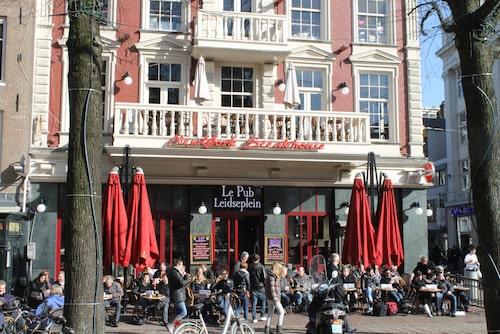 Leidseplein, utmärkta kvarter för middagsplanerna.
