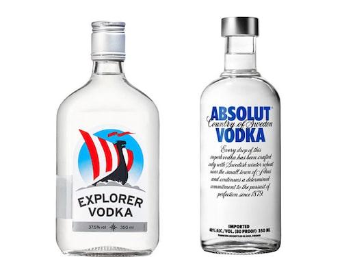 Klassiska svenska vodkamärken toppar spritlistan.