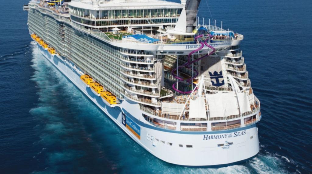 <p>Harmony of the seas kan skryta med&nbsp;The Ultimate Abyss, världens högsta vattenrutschkana till havs.</p>