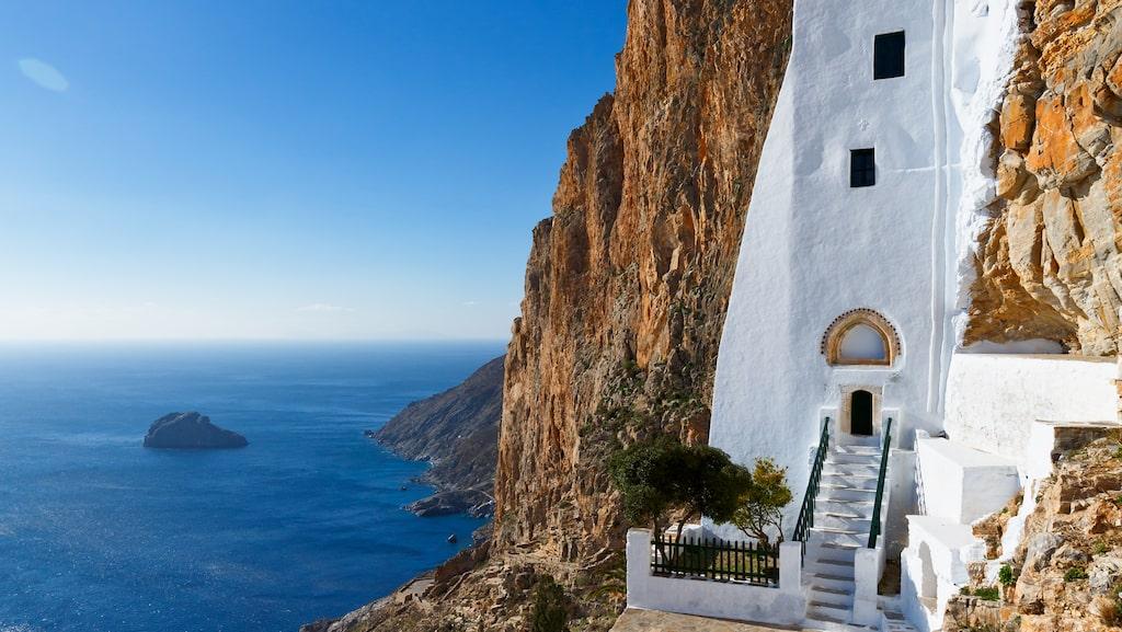 Klostret Hozoviotissa på ön Amorgos.