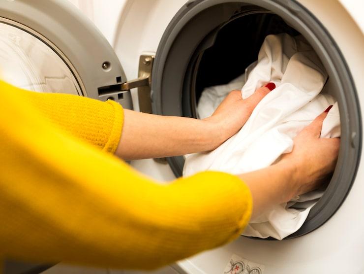 Alla kläder avslutades med en omgång i tvättmaskinen.