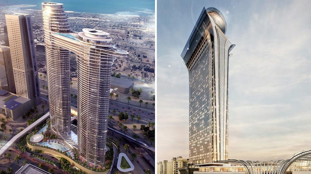 Nya, svindlande Dubaihotell för 2020: Adress Sky View och The Palm Tower.