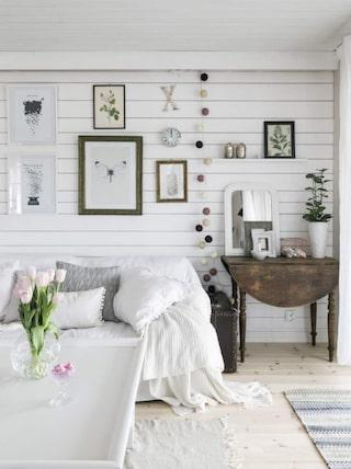 stilren inredning vardagsrum
