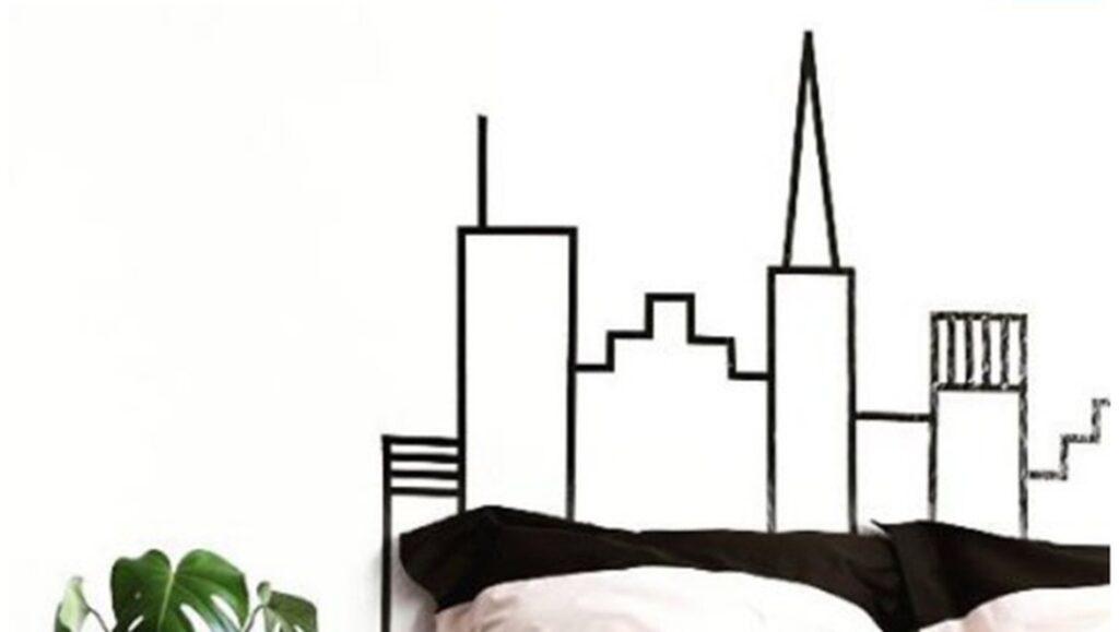 Gör en snygg skyline som sänggavel.