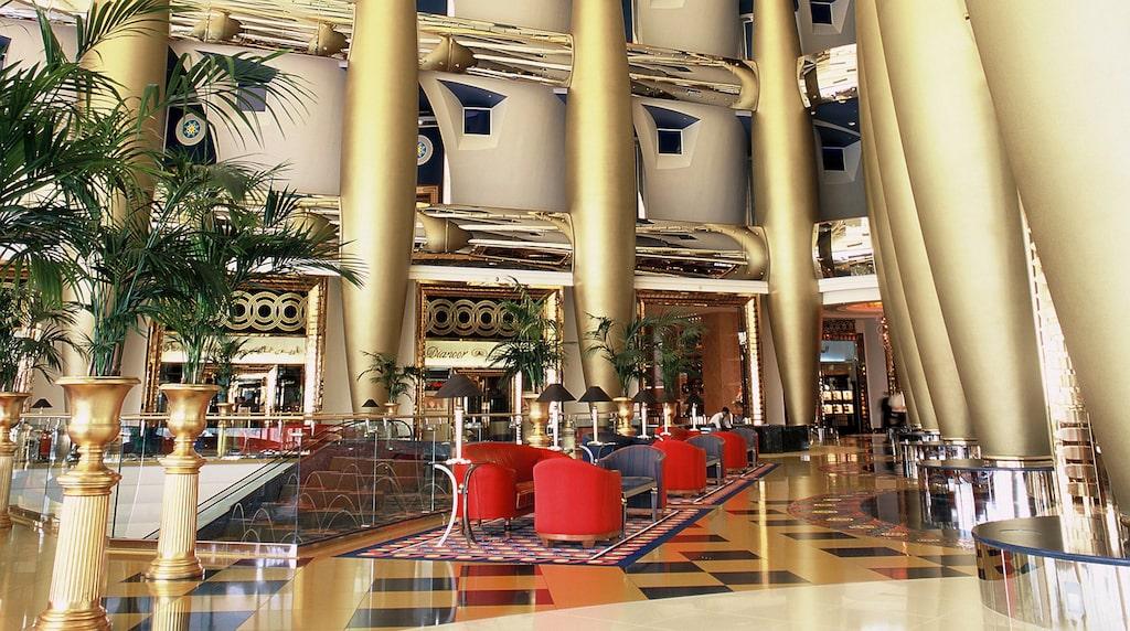 Lobbyn på sjustjärniga Burj Al Arab.