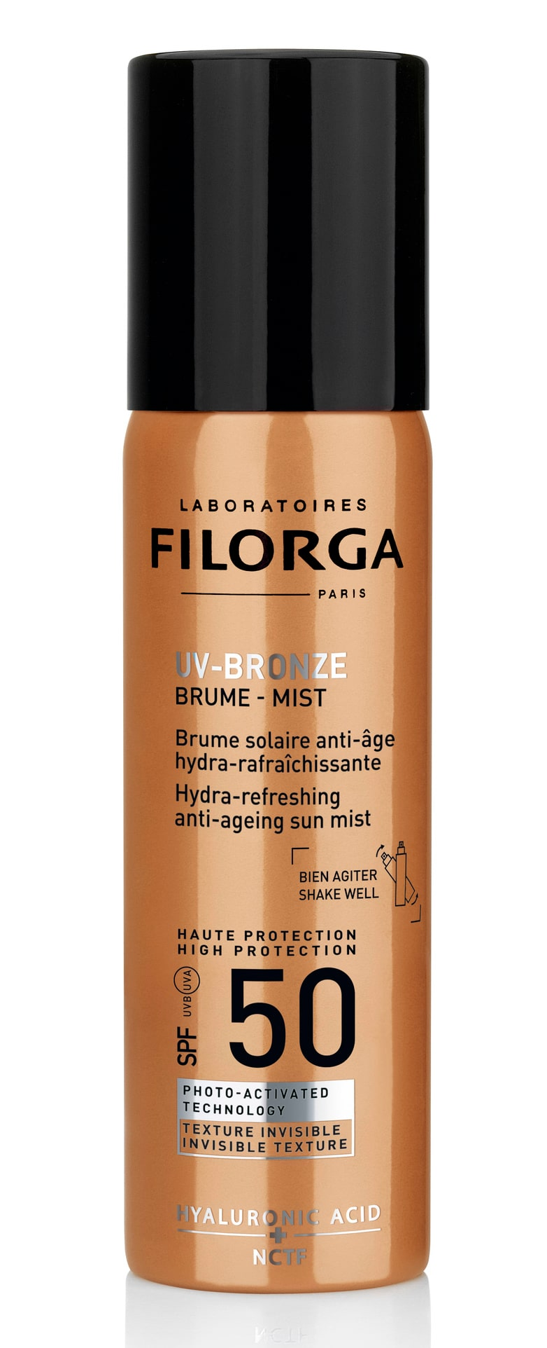 UV bronze face mist, Filorga.