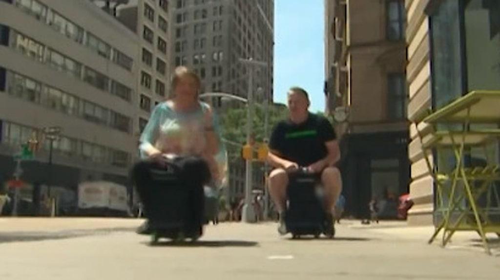 Modobag har utvecklat ett bagage som du kan åka på.