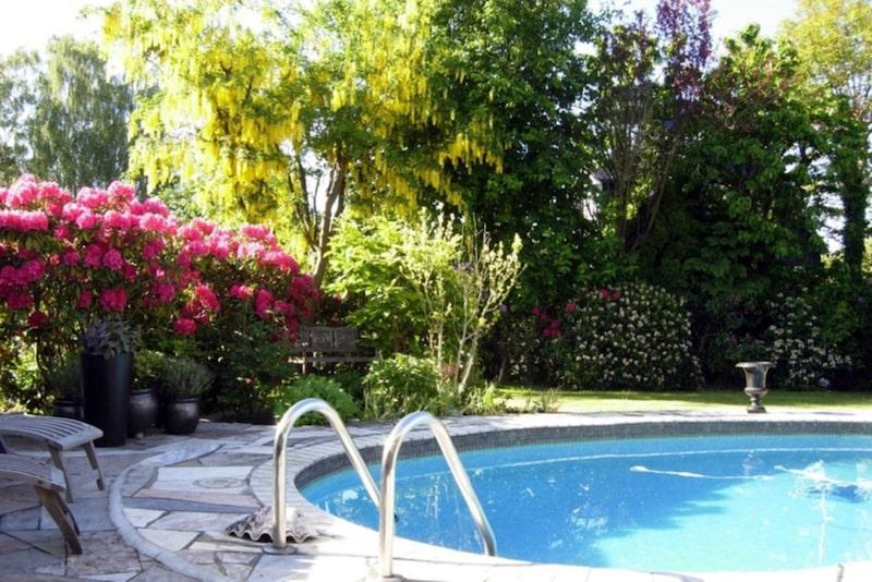 En härlig swimmingpool.