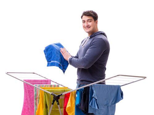 """Påståendet """"spelar väl ingen roll hur man torkar kläderna"""" är faktiskt sant."""
