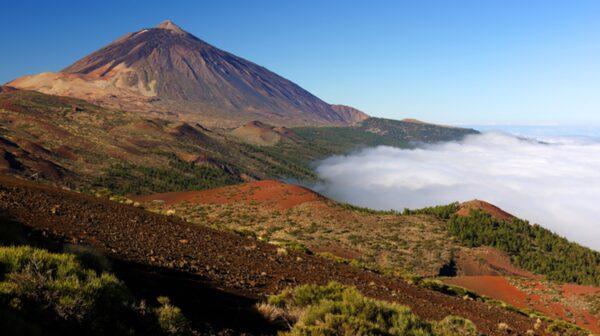Teide, Spaniens högsta berg, ligger på Teneriffa.