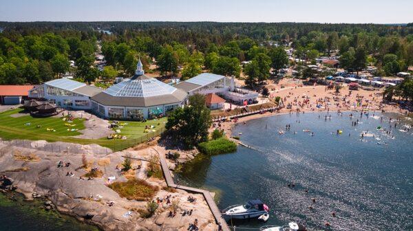Mysiga badplatsen i Västervik.