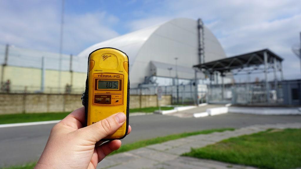 Det är av största vikt att hålla koll på den strålning man exponeras av under ett besök i Tjernobyl-området.