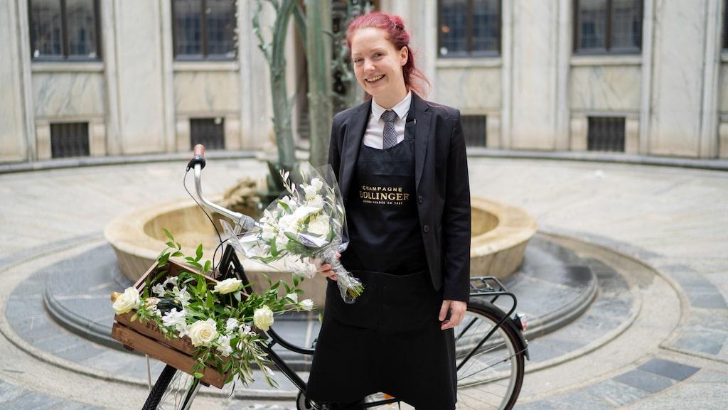 """Somelieren Maja Hempel från Thörnströms Kök i Göteborg är """"Årets Lily Bolinger"""" 2019."""