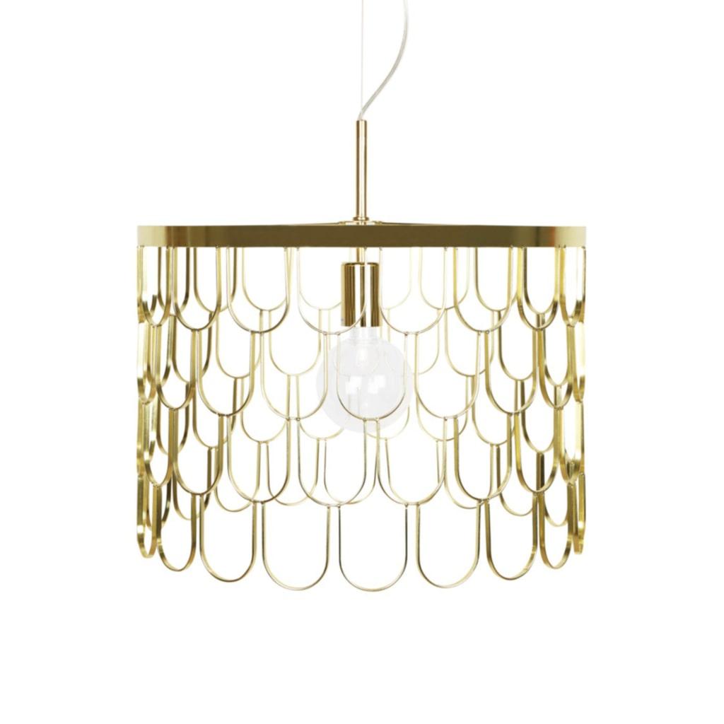 Mässing. Taklampa från Globen lighting, 1 699 kronor, Hemtex.