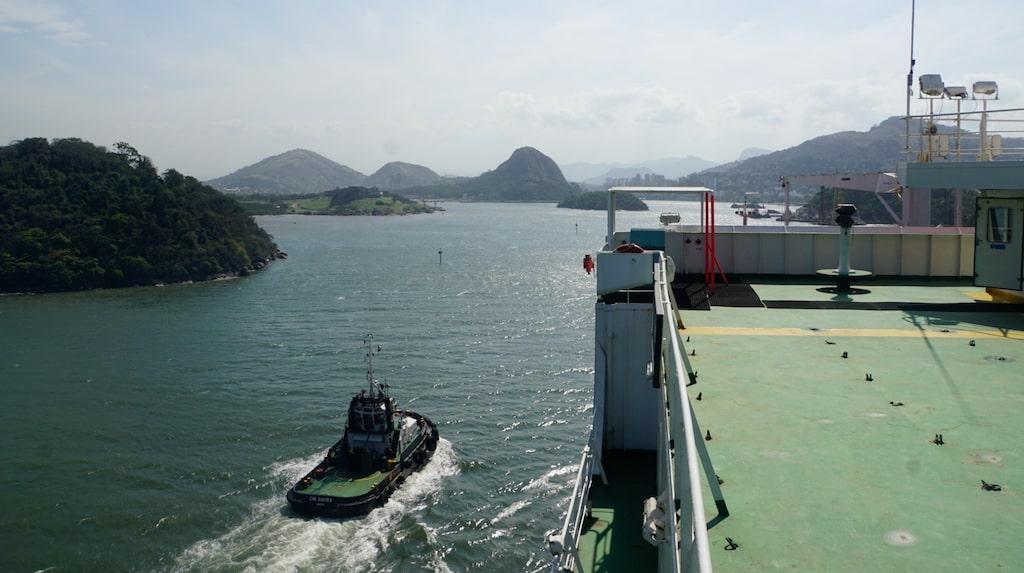 Ankomst till Rio med fraktfartyget från Hamburg.