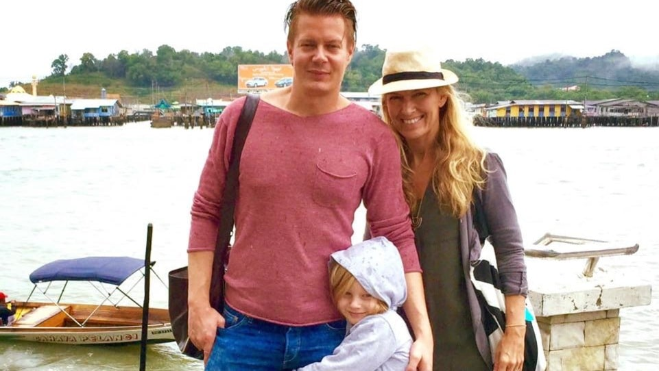 Josephine, Andreas, och sonen Oliver.