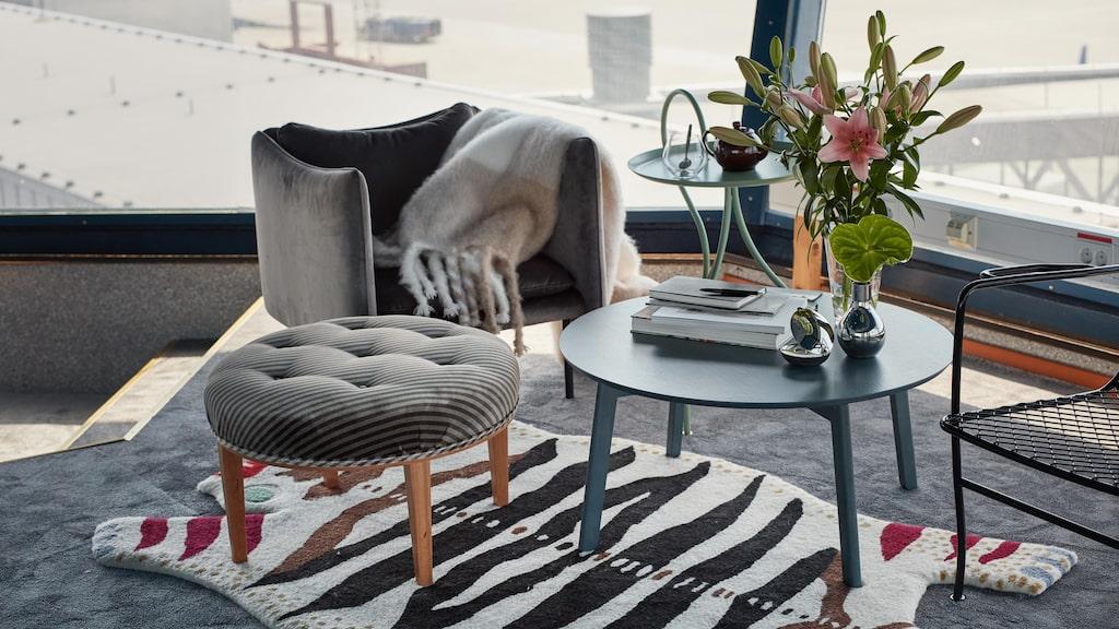 Lägenheten har inretts av konstnären Cilla Ramnek.
