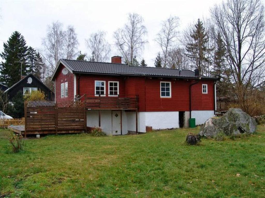 FÖRE. Så här såg huset ut när Anna och Richard köpte det år 2008.
