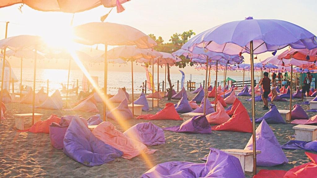 När du plaskat klart kan du vila upp dig på Pink Bali Lounge.
