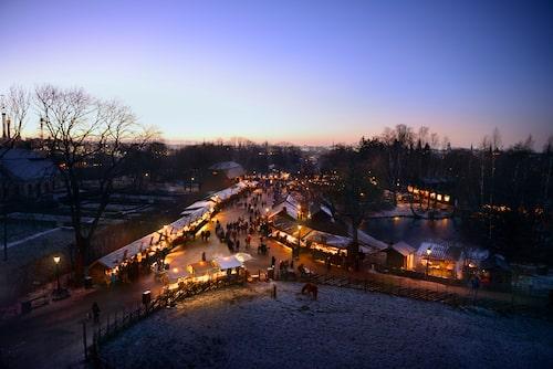 Varje jul sedan 1903: julmarknaden på Skansen.