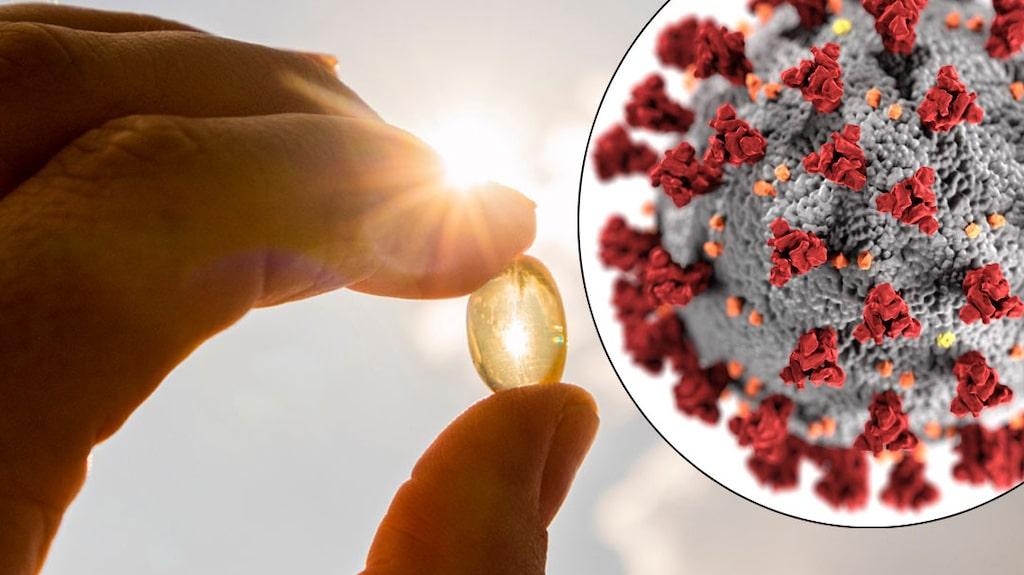 """""""Det finns studier som tyder på att man faktiskt löper mindre risk att bli sjuk i covid-19 om man har bra D-vitaminnivåer. Och det finns en lång rad studier som talar för att personer som ändå blivit sjuka får ett lindrigare förlopp med mindre risk att dö om man ligger bra i D-vitamin"""", säger den svenske forskaren Mats Humble."""