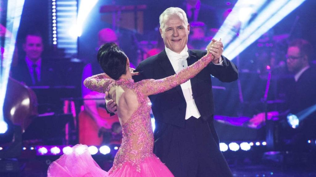 <p>Let's Dance. Glenn Hysén och Jeanette Carlsson från 2014. Benjamin Wahlgren blev den som tog hem priset.</p>