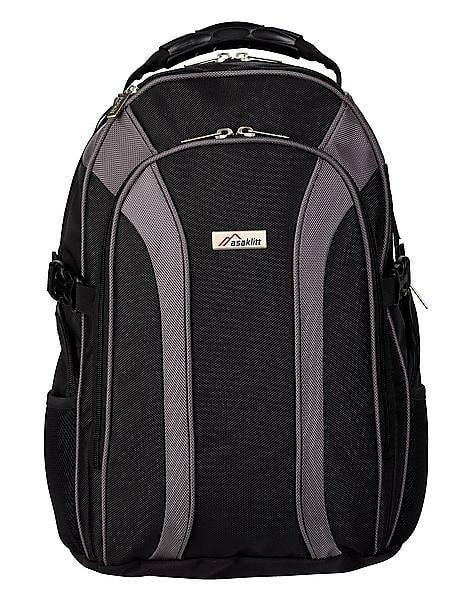 Aasaklitt, en rejäl och rymlig ryggsäck där man lätt kommer åt pass, pengar och biljetter.