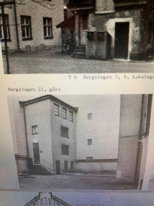 Gamla bilder på trevåningshuset från 1886.