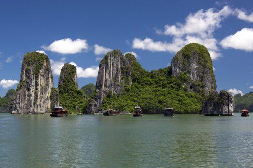 Halongbukten, Vietnam.