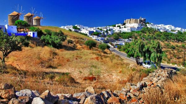 Mitt i huvudorten Chora på Patmos reser sig Johannesklostret.