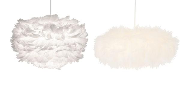 Vänster: Eos, Vita. Höger: North light, Clas Ohlson.