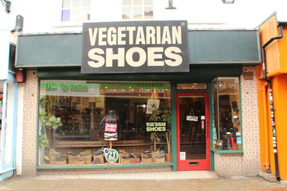 Vegetariska skor - i North Laine förstås.