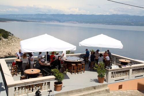 Restaurangen Nada, belägen i vindistriktet Vrbnik på Krk.