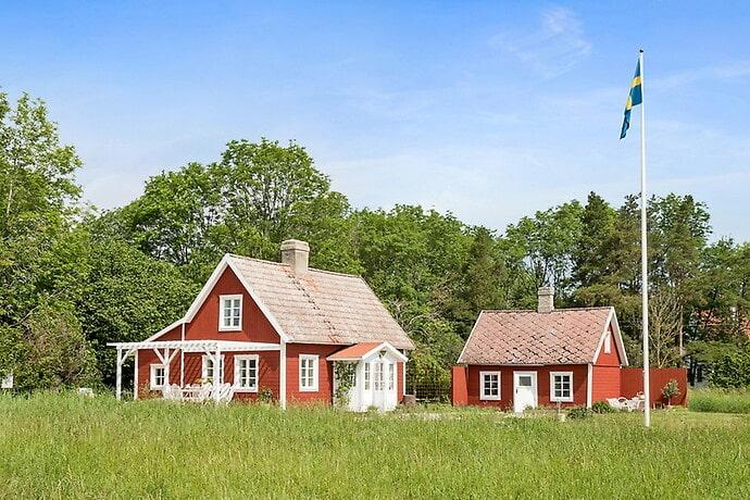 Ett av fritidshusen på Gotland – här på östra sidan.